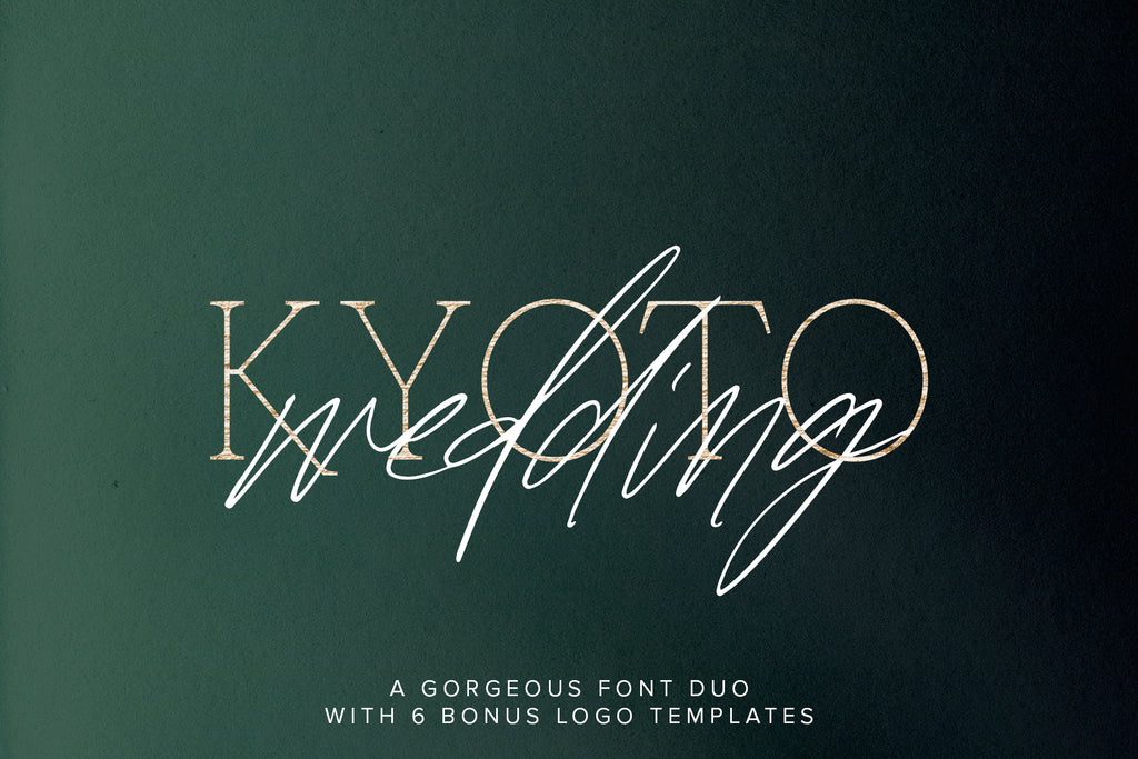 Kyoto Wedding Font Duo w/ Extras