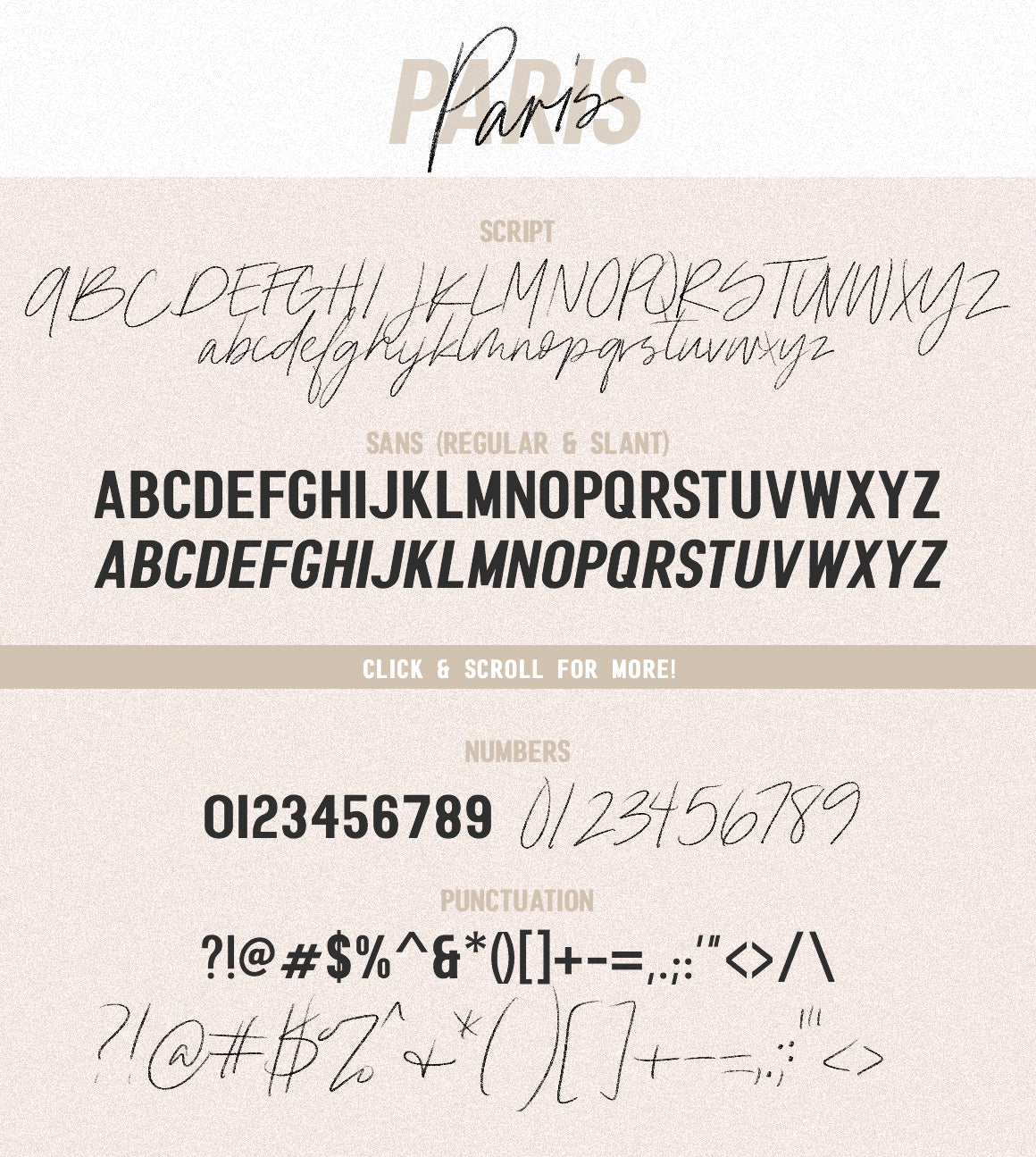 Paris | Font Duo + SVG with Extras