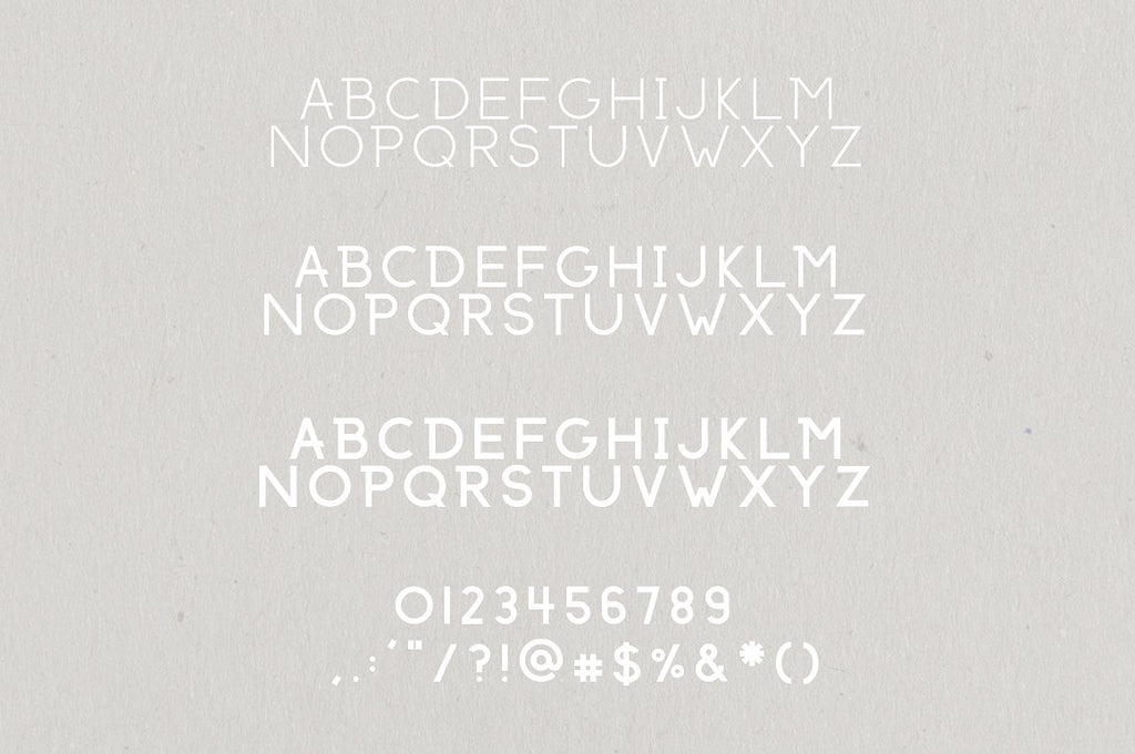 Anchorage Modern Sans Serif Font Typeface by Jen Wagner Co.
