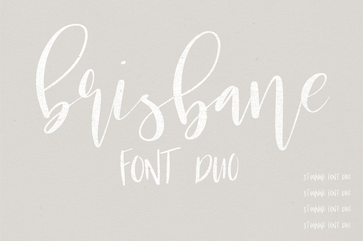 Brisbane | A Scripty Font Duo