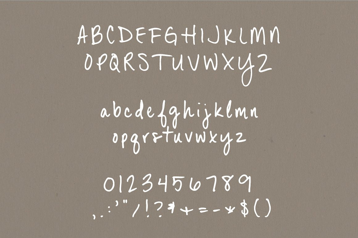 Dana Point Hand written font typeface by Jen Wagner Co.