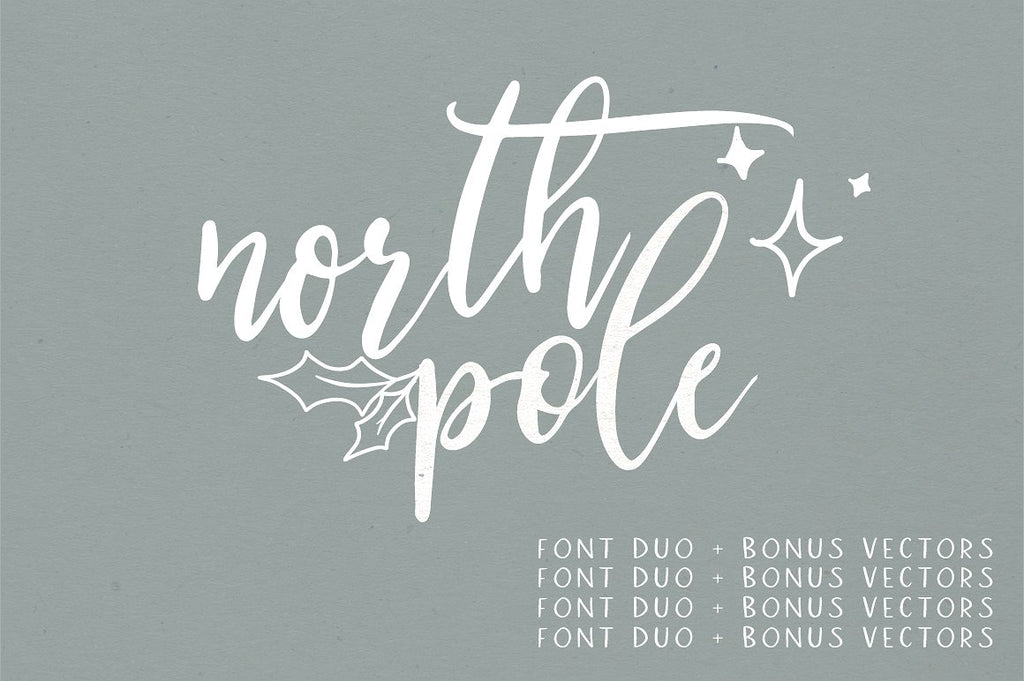 North Pole | A Holiday Font Duo