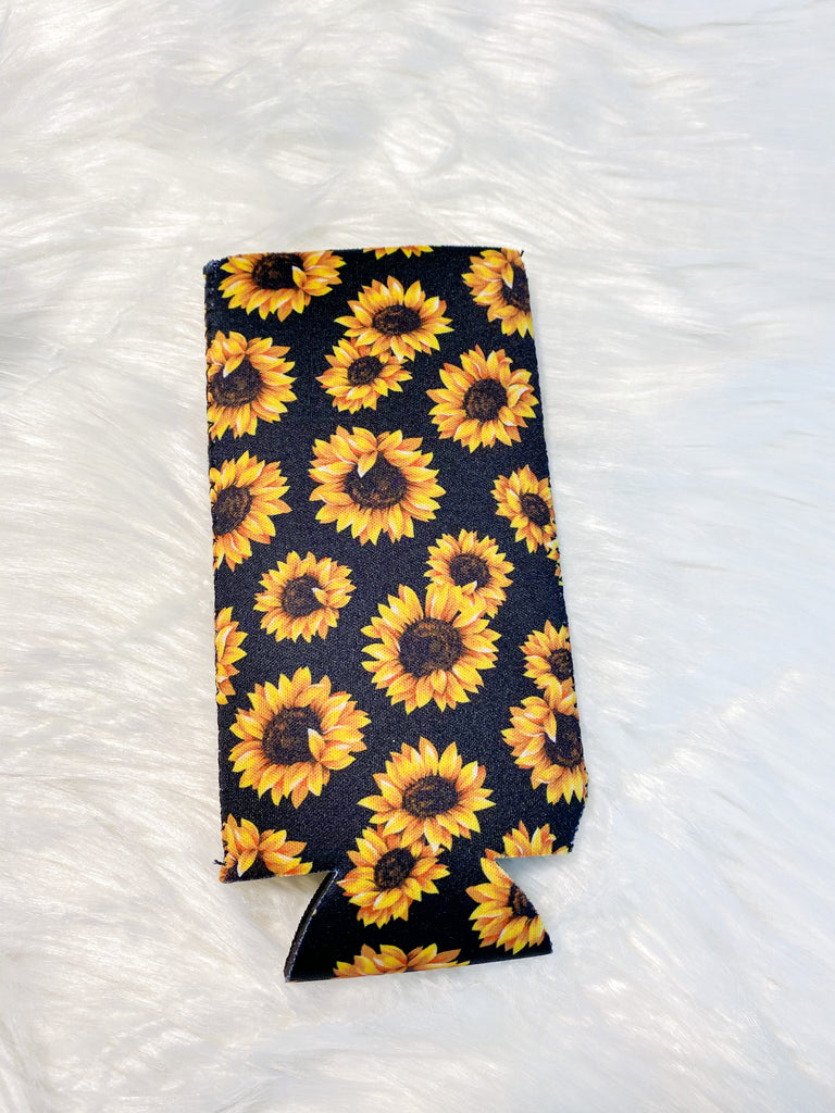 Sunflower Slim Can Koozie