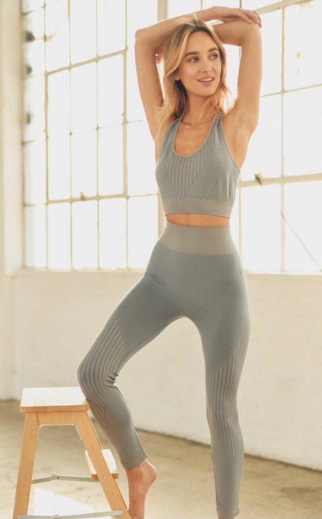 2pc Grey Workout Set