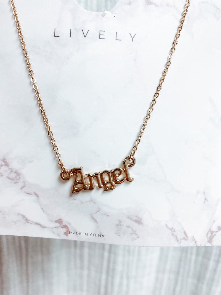 Gold Angel Necklace