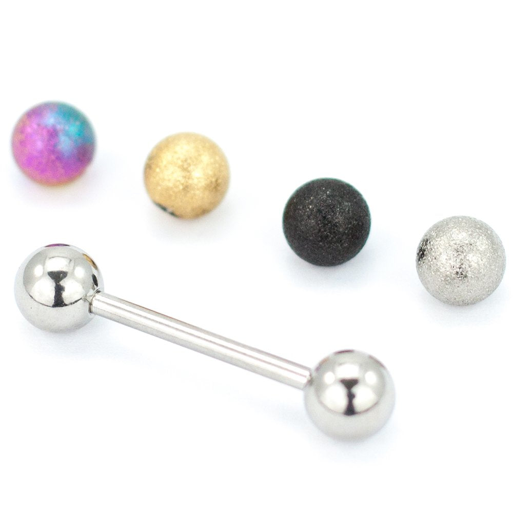 5 Piece Set 14G Sunblast Barbell with Loose Balls 5/8