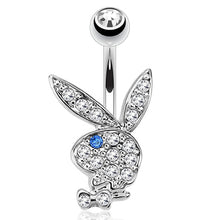 "Load image into Gallery viewer, Pierce2GO Playboy 14G 316L Surgical Steel Belly Button Ring Mixed Colors 3/8"" Barbell"
