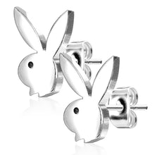 Load image into Gallery viewer, Pierce2GO Playboy 316L 20G Surgical Steel Bunny Earrings Studs Plated for Women 0.8 MM - Playboy Licensed