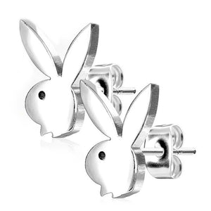 Playboy 316L 20G Surgical Steel Bunny Earring Studs Plated