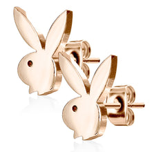 Load image into Gallery viewer, Playboy 316L 20G Surgical Steel Bunny Earring Studs Plated