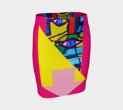 ArtzOnMe  Abstract Pink Skirt