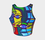 ArtzOnMe Abstract Crop Top