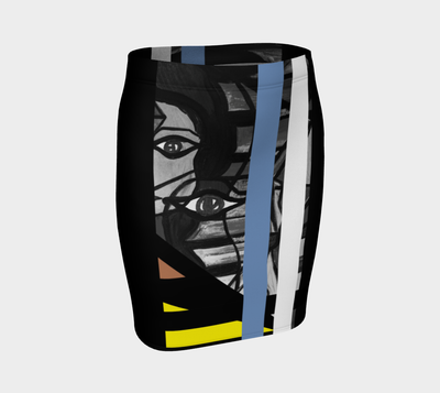 ArtzOnMe Abstract Blue Skirt