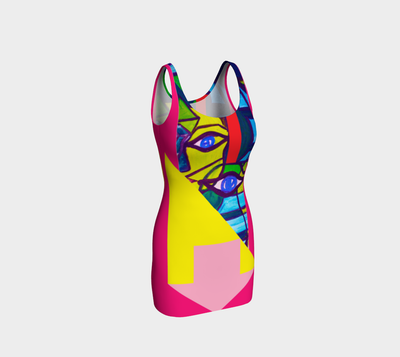 ArtzOnMe Abstract Pink Bodycon