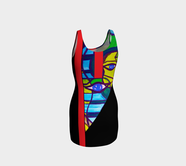 ArtzOnMe Abstract Line Bodycon