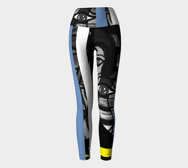 ArtzOnMe Abstract Blue Leggings