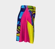 ArtzOnMe Abstract Pink Flare Skirt