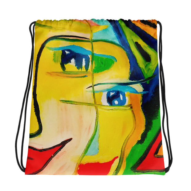 ArtzOnMe Happy Drawstring bag