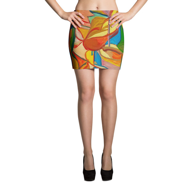 ArtzOnMe Stained Glass Mini Skirt