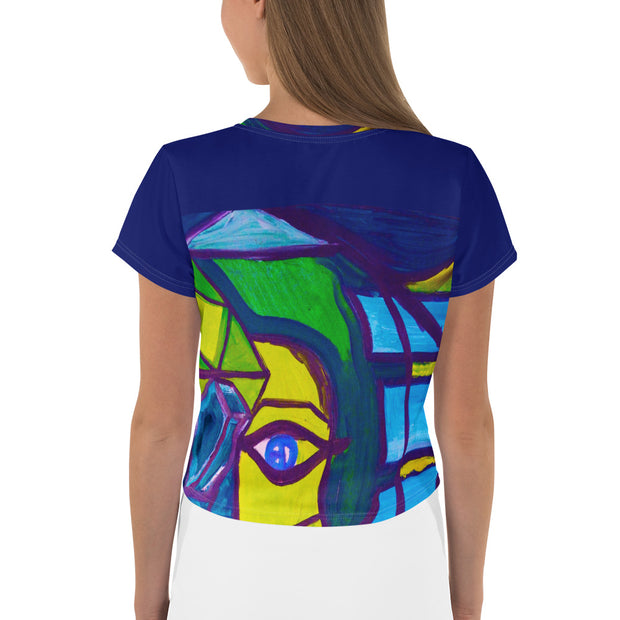 ArtzOnMe Blue Original Crop Tee