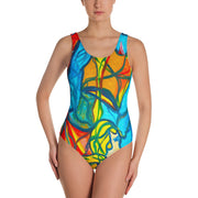 ArtzOnMe Blue One-Piece Swimsuit