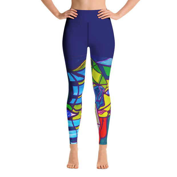 ArtzOnMe Blue Ribbon Original Yoga Leggings