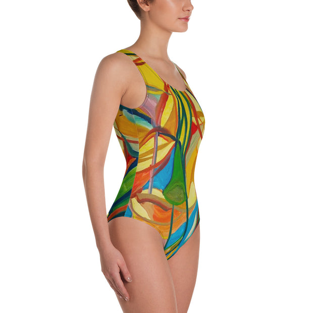 ArtzOnMe Stained Glass One-Piece Swimsuit