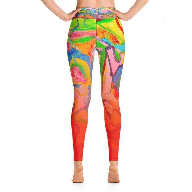 ArtzOnMe Smile Yoga Leggings