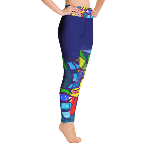 ArtzOnMe Blue Original Yoga Leggings