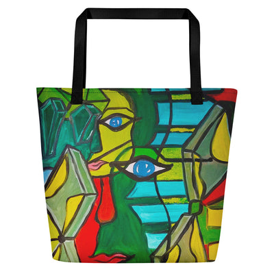 ArtzOnMe Green Original Beach Bag