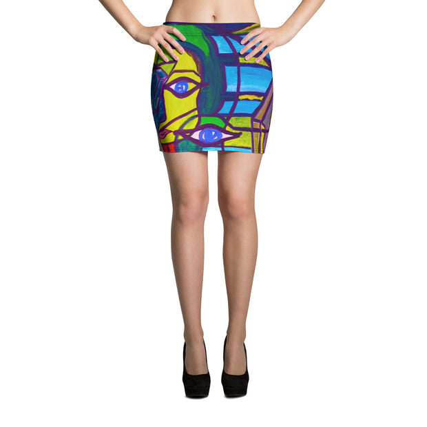 ArtzOnMe Original Abstract Mini Skirt