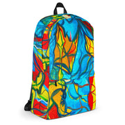 ArtzOnMe Blue Stained Glass Backpack