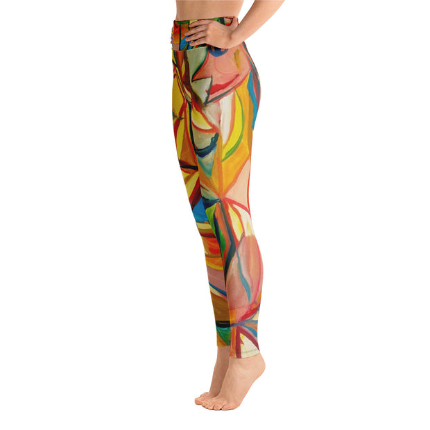 ArtzOnMe Lite Stained Glass Yoga Leggings