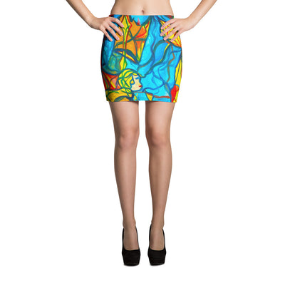 ArtzOnMe Bold Mini Skirt