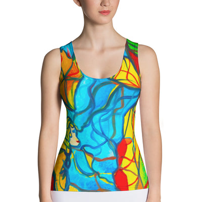 ArtzOnMe Blue Stained Glass Tank Top