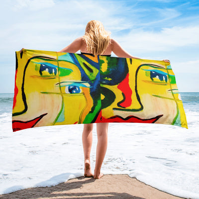 ArtzOnMe Happy Beach Towel