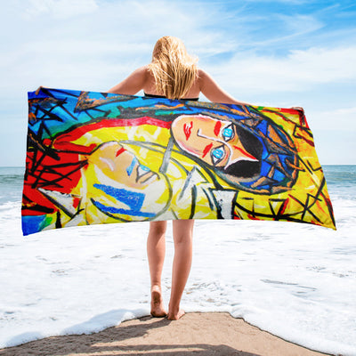 ArtzOnMe Face It Beach Towel