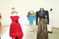 Exposition robes vintage, haute couture