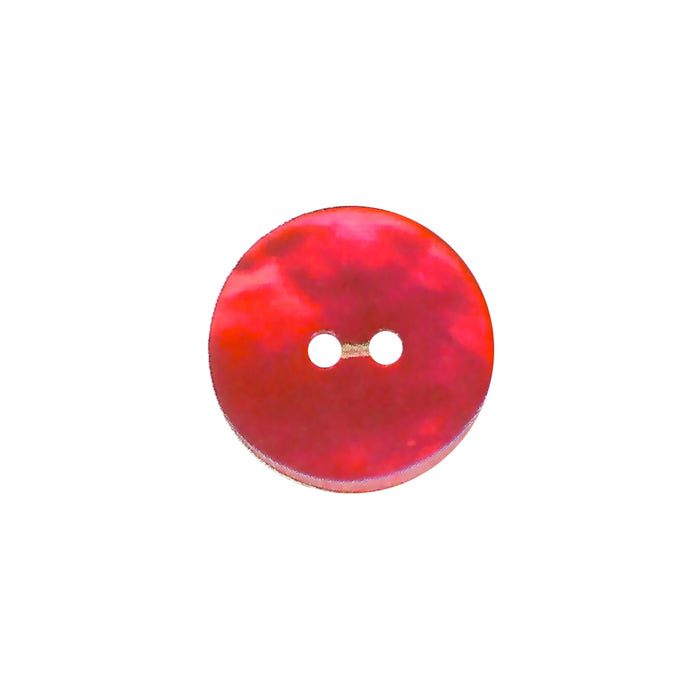 Bouton nacre naturel rouge