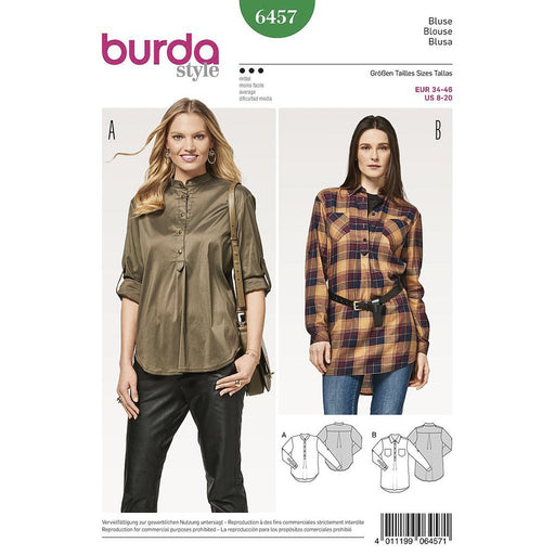 Burda 6457, chemisier, blouse