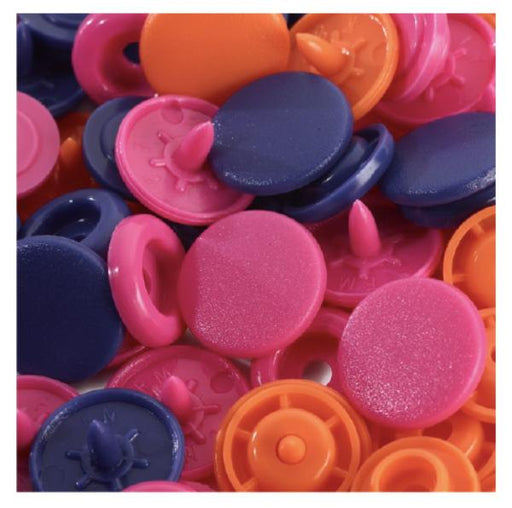 Bouton pression Prym Love, Rose fuschia, orange, violet