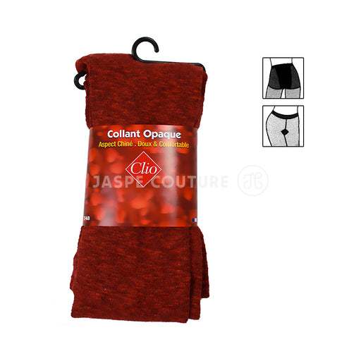 Collant opaque chiné rouge 280D Clio