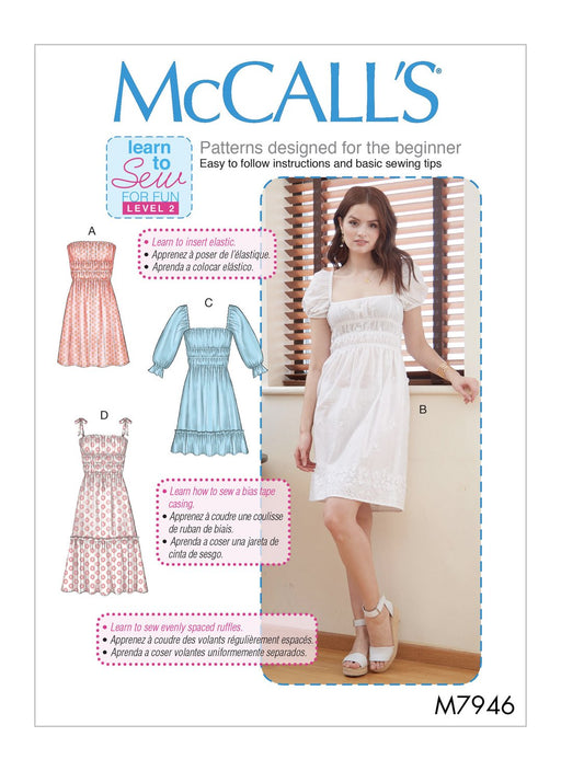 Patron de couture robes McCall's 7946
