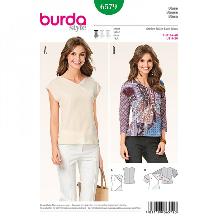 Patron Burda 6579 blouse