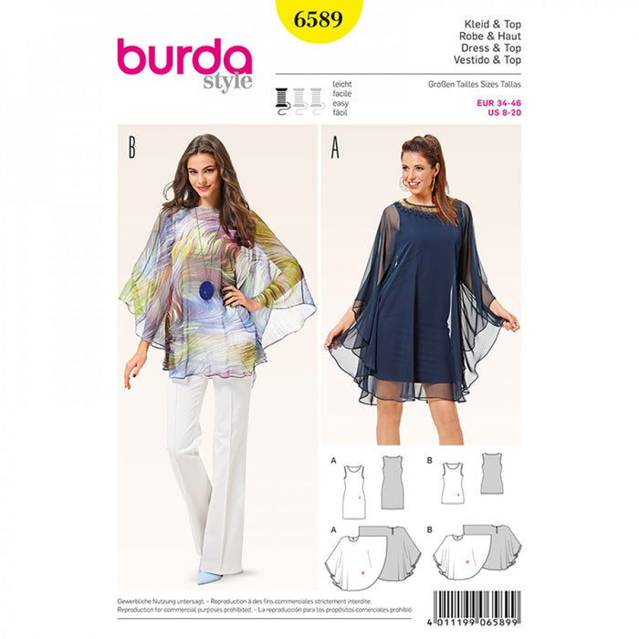 Patron Burda 6589 blouse