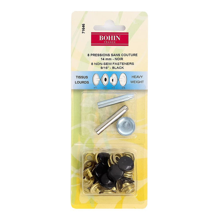 Boutons pression Bohin 14mm pour tissus lourds