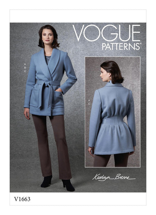 Patron veste, top et pantalon Vogue 1663