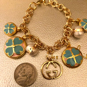 Repurposed Ashely Charm Bracelet