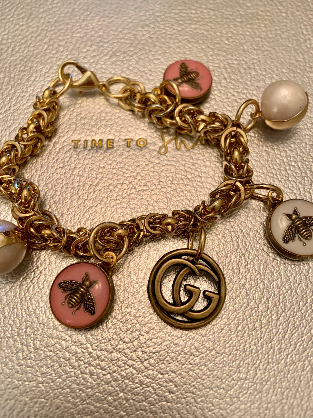 Repurposed Lily Charm Bracelet