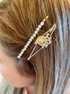 Repurposed Genevieve Hair Pin Silver